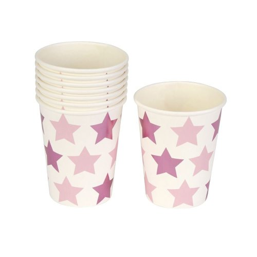 Little Star Pink - Paper Party Cup - 8 Pack