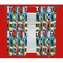 Thomas Team Curtains - 72 Inch - Friends Bedroom Free -  thomas curtains team friends 72 bedroom free