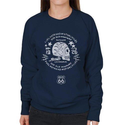 Route 66 USA Old Highway Motorcycles Women's Sweatshirt