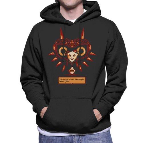 Terrible Fate Majoras Mask Legend Of Zelda Men's Hooded Sweatshirt