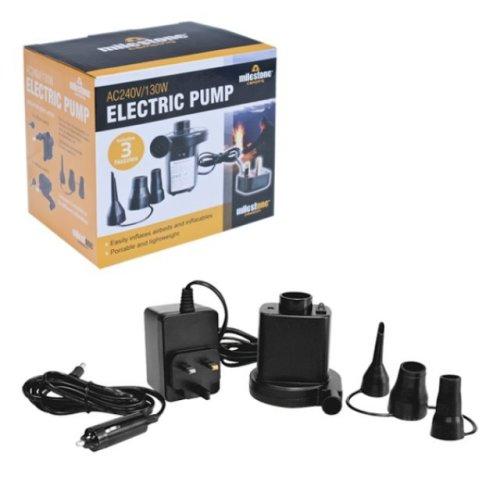 AC Electric 240v/130w Air Pump Inflate/Deflate Air Bed Mattress Home Camping