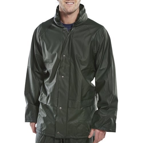 Click SBDJOL Waterproof Jacket With Concealed Hood Olive Green Large