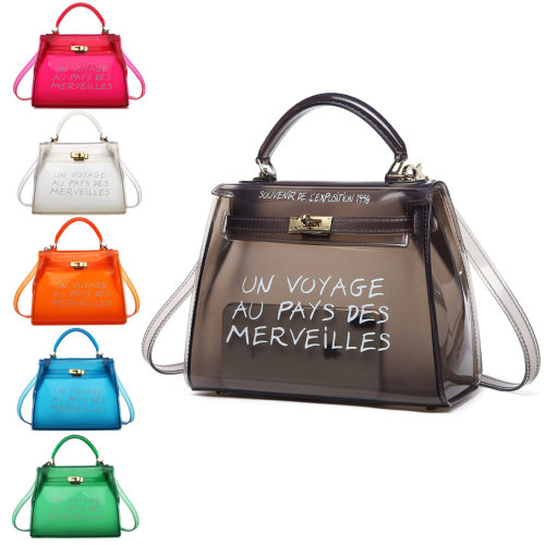 5aa7e3ff8a Miss Lulu Women Clear Transparent PVC Shoulder Bag Handbag Solid Candy  Color Small Jelly Bag on OnBuy