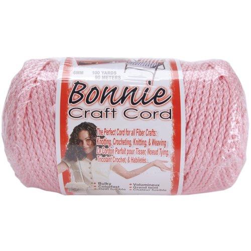 Bonnie Macrame Craft Cord 6mmX100yd-Pink