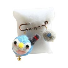 Cute Cartoon Animal Wool Felt Brooch Pin Clothing Accessories, Little Penguin
