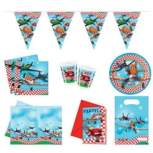 Planes Partyset - Disney Party Invites Decorations Tableware Package 6 People -  disney planes party invites decorations tableware package 6 people