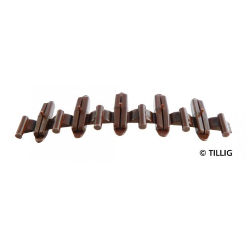Bag of 20 Isolating fishplates (brown) - Tillig 85502 - free post