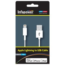 Infapower P011 Apple Lightning to USB 2.0 Cable for iPhone iPod & iPad - White