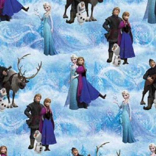 Fat Quarter Disney Frozen Character Scenic Cotton Quilting Fabric Ana Elsa