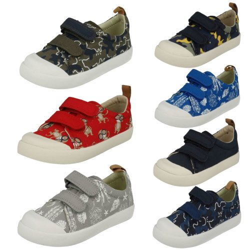 Infant Boys Clarks Machine Washable Summer Doodles Halcy High - G Fit