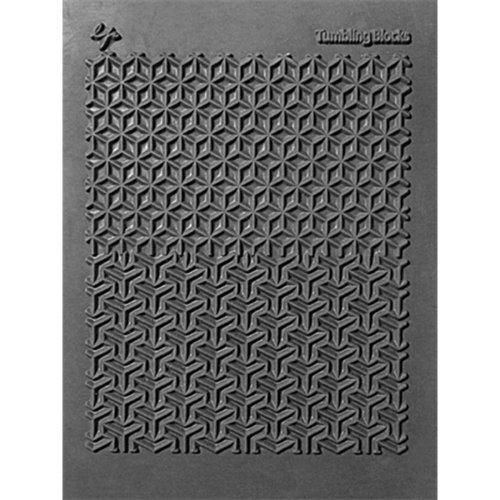 "Lisa Pavelka Individual Texture Stamp 4.25""X5.5""-Tumbling Blocks"