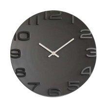[Black] 14 Inch Modern Wall Clock Decorative Silent Non-Ticking Wall Clock