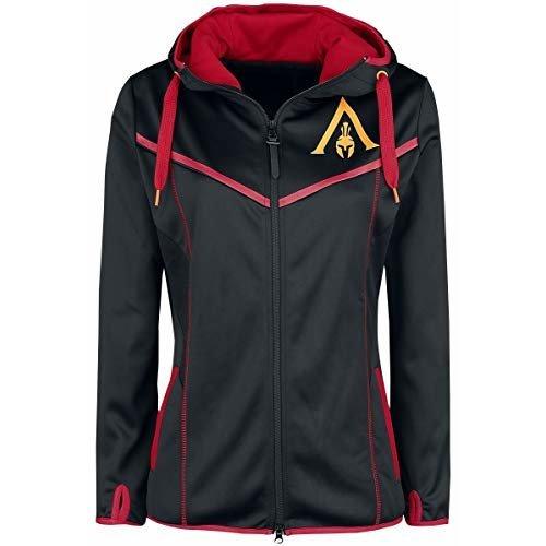 Assassin's Creed Odyssey - Technical Dark Girls Hooded Zip Black-red XXL (New)