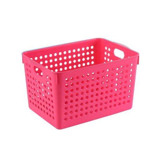 Closet Shelves Organizer Bins Plastic Storage Organizing Basket Set of 2