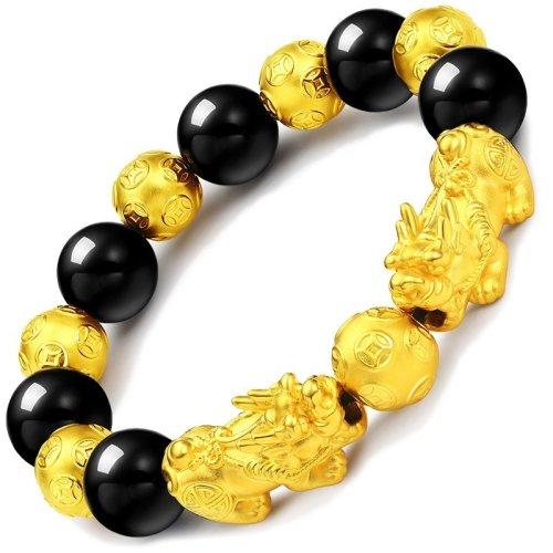 Black Obsidian Wealth Bracelet-The best gift for parents