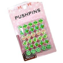 Set of 30 Small Fresh Style Pushpins Beautiful and Colorful Drawing Pins, D2