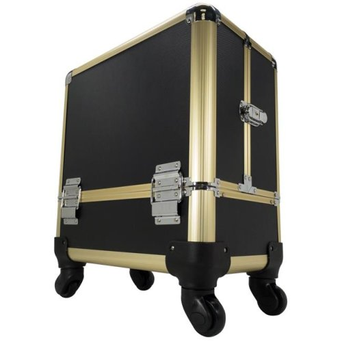 TZ Case AB-111T GBD Wheeled Beauty Organizer, Gold Black Dot