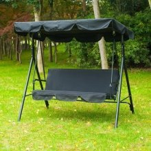 Outsunny Garden Swing Chair 3 Seat