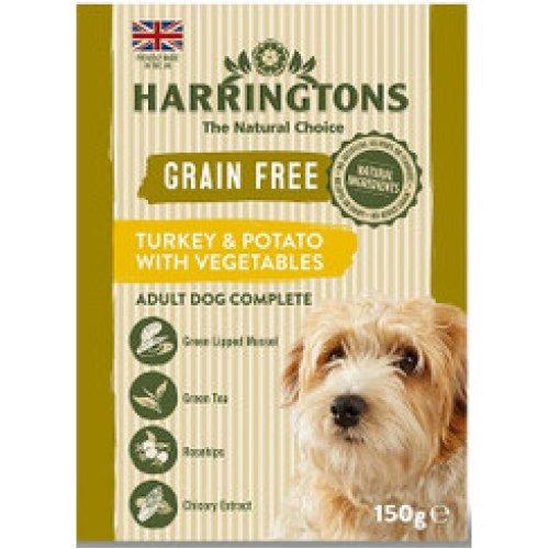 Harringtons Grain Free Turkey & Potato with Vegetables 7 x 150g