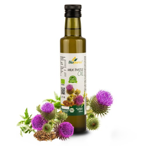 Biopurus Organic Cold-Pressed Milk Thistle Seed Oil 250ml