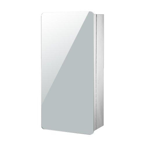 Homcom Modern Bathroom Cabinet Mirror Stainless Steel 63Hx30Lx15D (cm)
