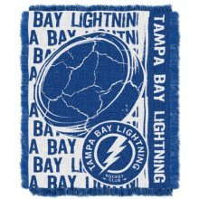 Officially Licensed NHL Tampa Bay Lightning Double Play Jacquard Throw Blanket, 48 x 60