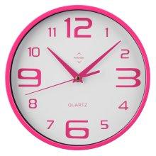 Premier Housewares Round Wall Clock - Hot Pink