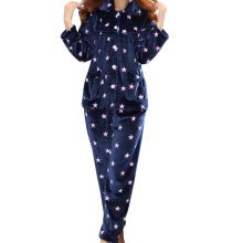 Casual Pajama Set Warm Sleepwear Home Apparel Flannel Pajamas X-large-A7