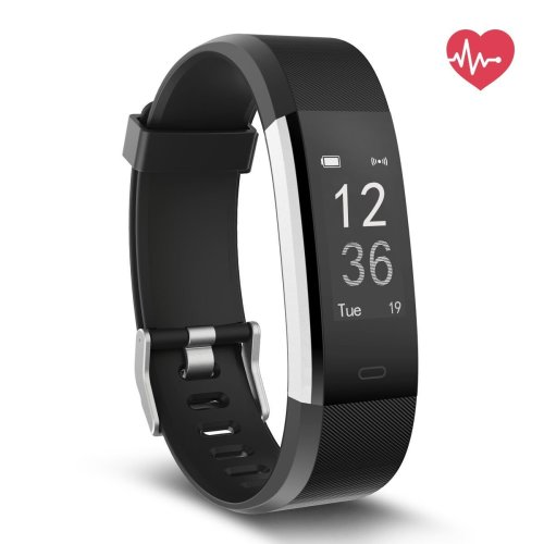 Delvfire Pulse HR Fitness Tracker Activity Watch and Heart Rate Monitor, Waterproof Touch Screen Smart Bracelet for Women, Men, Kids with Sleep...