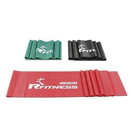 Furinno Rfitness Professional Flat Stretch Exercise Band 3 PC Set RF1502 3