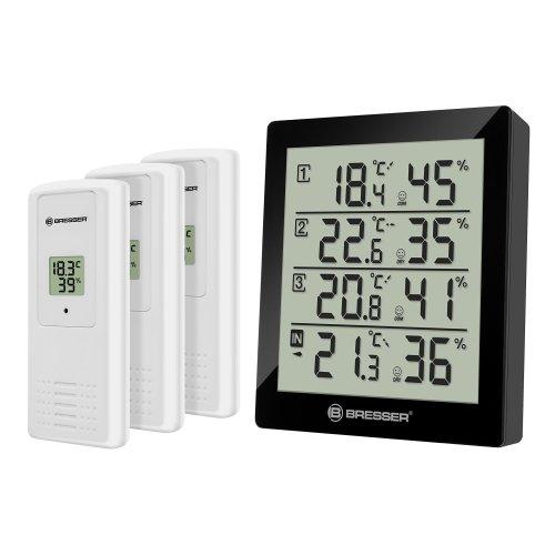 Bresser Temperature Station Weather Station Temeo Quadro Thermometer/Hygrometer
