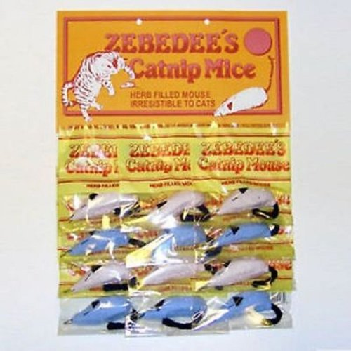 Zebedee catnip mice pack of two