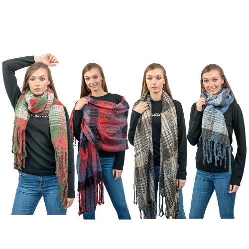 Miss Lulu Women Scarf Stripe Winter Shawl