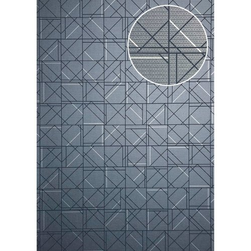 ATLAS XPL-591-5 Graphic wallpaper shiny blue blue grey 5.33 sqm