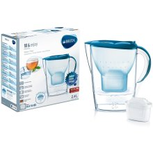 BRITA Marella MAXTRA+ Plus 2.4L Water Filter Jug + Cartridge - Cool Colours Teal