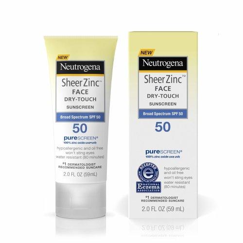 Neutrogena Sheer Zinc Face Dry-Touch Sunscreen Broad Spectrum SPF 50, 2 Fl. Oz.