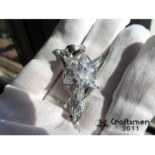 Craftsmen Silver-like Lord of the Ring Silver-like Arwen Evenstar Elf Necklace Pendant pure Silver-like necklace fairy princess
