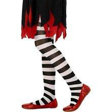 Kids Black & White Striped Tights