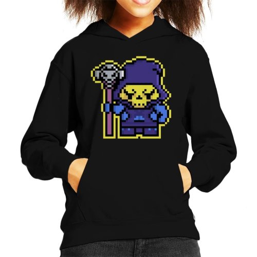 Pixel Skeletor Kid's Hooded Sweatshirt