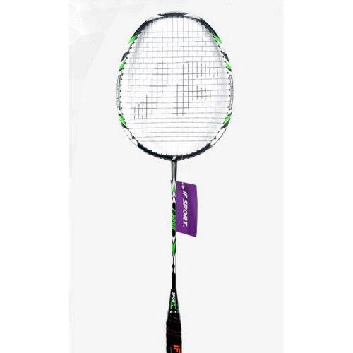 Pro Badminton Racquet Restrung Rackets with Bag Black&Green