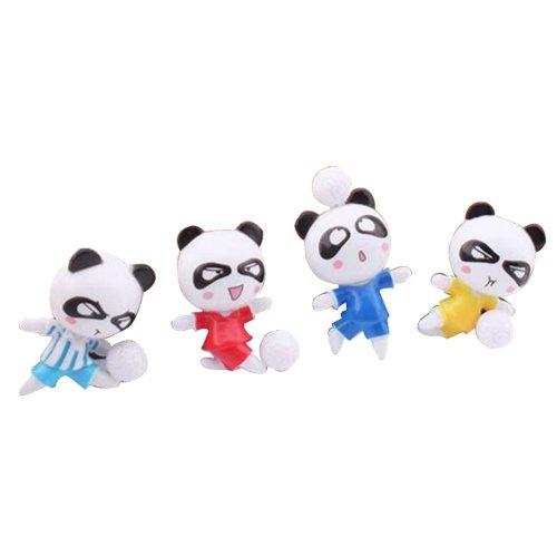 4 Pcs Creative Pushpin Push Pin Thumbtack Office Supplies, Football panda
