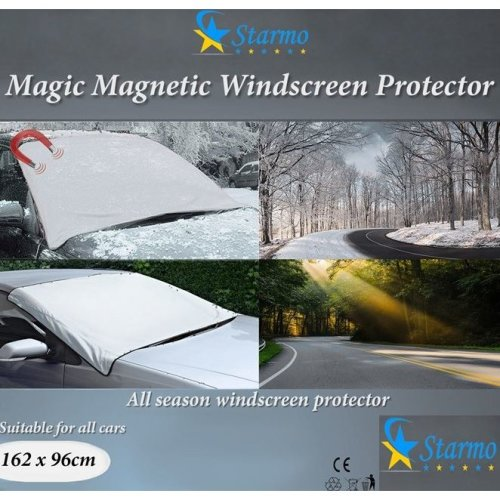 Starmo Windscreen Cover Magnetic Car Windshield Protect From Sun, Ice, Frost & Snow All Weather Shield Screen Cover