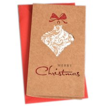 Christmas Cards Greeting Cards Christmas Gift Xmas Cards (4 Cards and Envelopes), Brown # 19