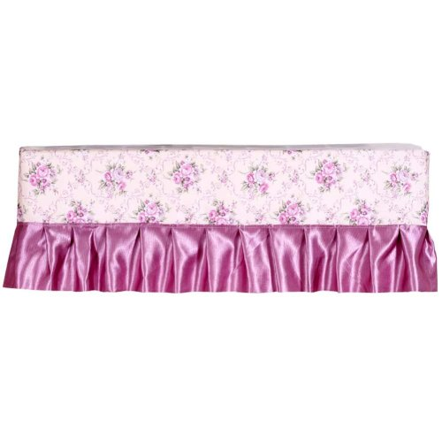 Floral Pattern Air Conditioner Dust Cover Protective Cover Room Decoration 1 piece (D)