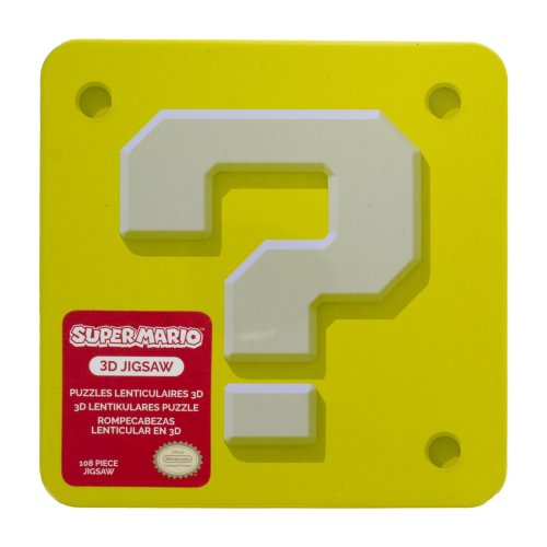 Super Mario 3D Jigsaw Puzzle & Collectable Embossed Tin Retro Kids 112 Pieces