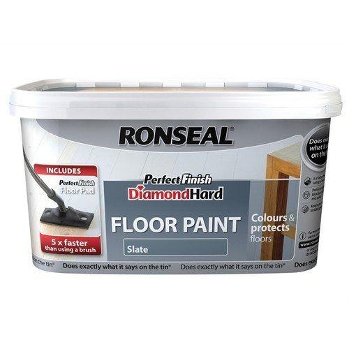 Ronseal 35759 Diamond Hard Perfect Finish Floor Paint Slate 2.5 Litre