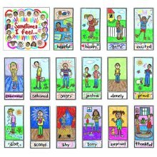 Carson Dellosa Kid-Drawn Emotions Bulletin Board Set (3250)