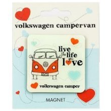 Official VW Campervan Fridge Magnet Volkswagen Live The Life You Love Souvenir Gift Camper Van