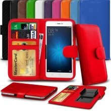 "iTronixs - Huawei Honor 8 Smart (5.2"") High Quality Clamp Style PU Leather Wallet Case Cover"