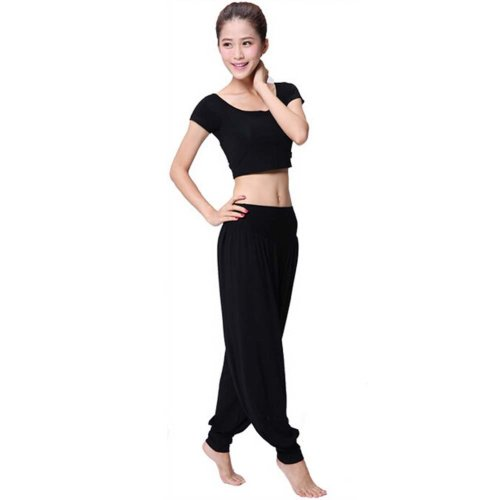 Best Yoga Apparel Sexy Yoga Black Pant Gym Clothes Dance Outfit Fitness Suit